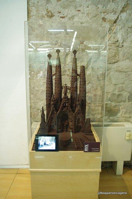 Sagrada Familia de chocolate en el Museo de la Xocolata de Barcelona