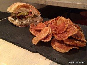 Goat Cheese sandwich in Murray's Cheese Bar, New York