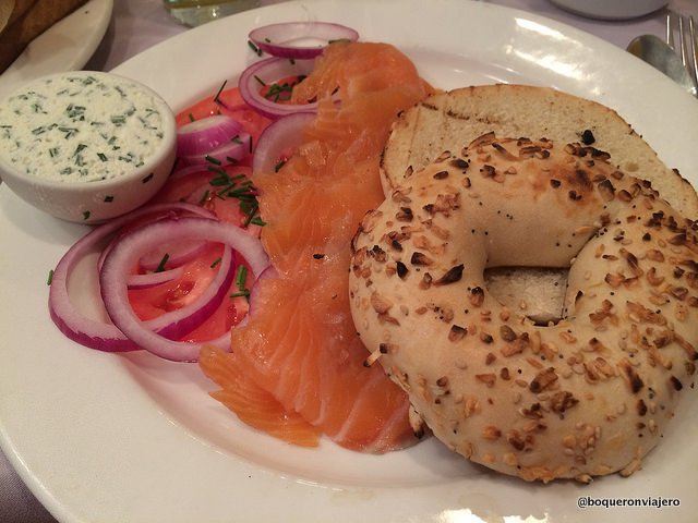 Bagel with Lox in The Charles Hotel, Cambridge, MA
