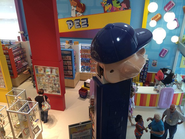 Giant Pez dispenser at the Pez Visitor Venter, Connecticut