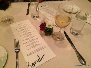 Carta del Restaurante Bondir Concord