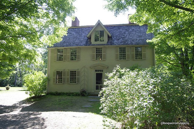 Remains of the house of Henry David Thoreau in Concord, MA