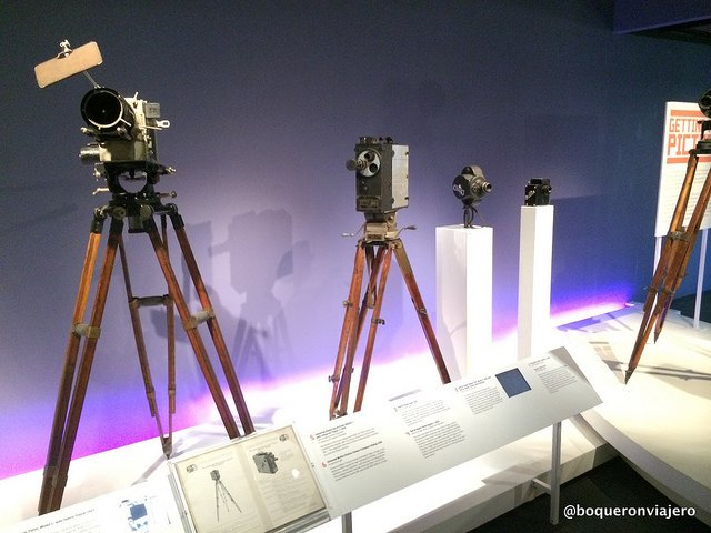 Old movie cameras at the Museum of the Moving Image in Queens