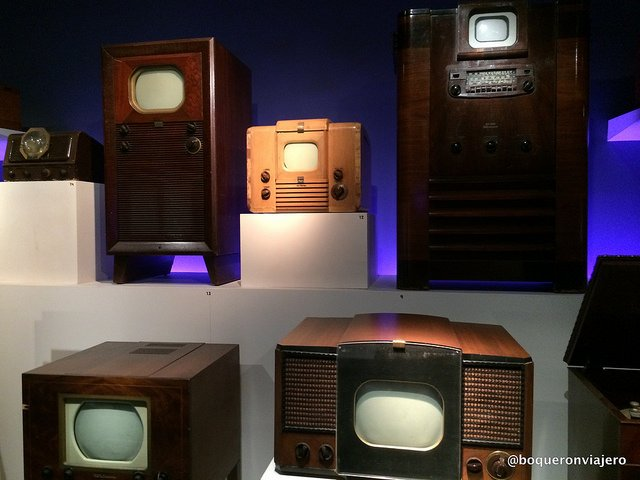 Old television sets at the Museum of the Moving Image in Queens