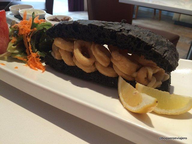Bocadillo de Calamares at Andanada Restaurant, NYC