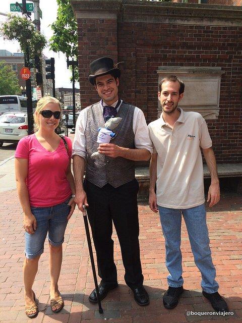 Daniel, our guide in Cambridge