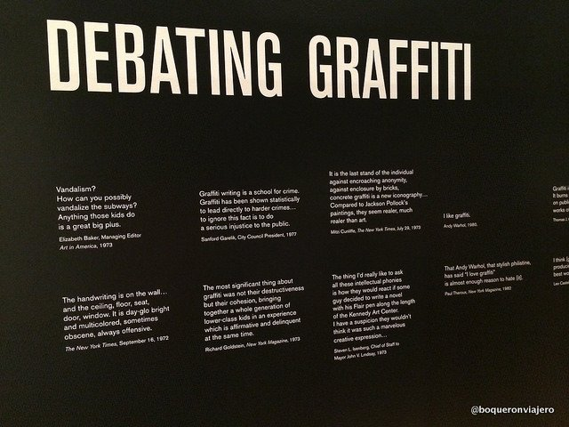 Debate surrounding the graffiti in The Museum of the City of NY