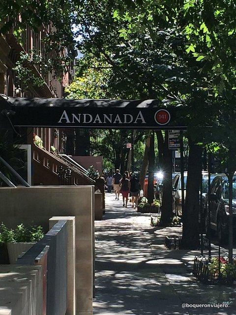 Exterior of Andanada Restaurant, NYC