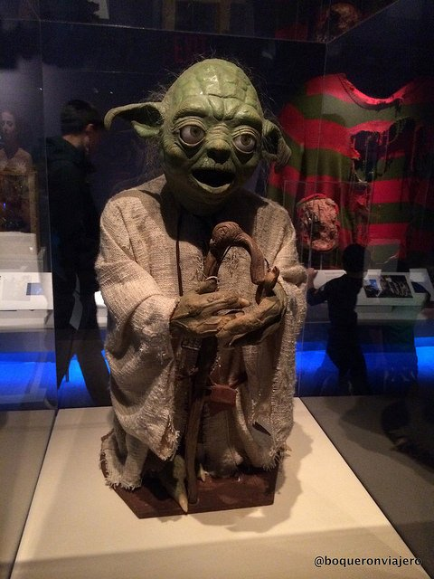 Figure of Yoda at the Museum of the Moving Image in Queens