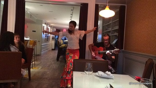 Flamenco show at Andanada Restaurant, NYC
