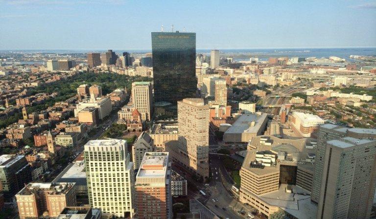 La ciudad de Boston desde el Prudential Tower
