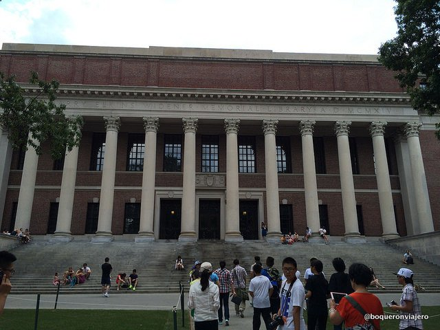 Biblioteca en el Campus de Harvard, Cambridge MA
