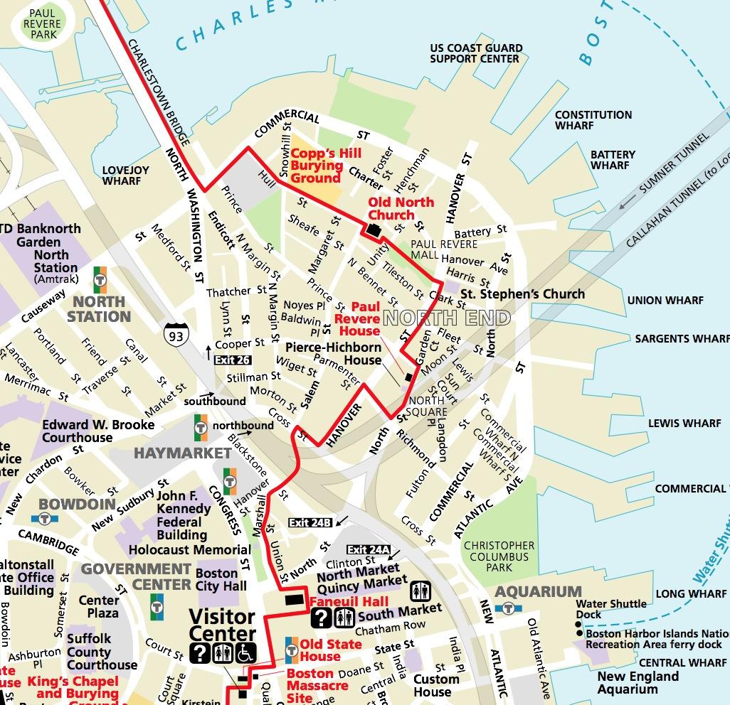 mapa de boston Qué ver en Boston y alrededores, 20 rincones mágicos mapa de boston