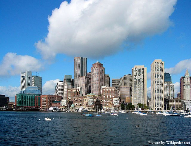 Skyline of the Financial District of Boston