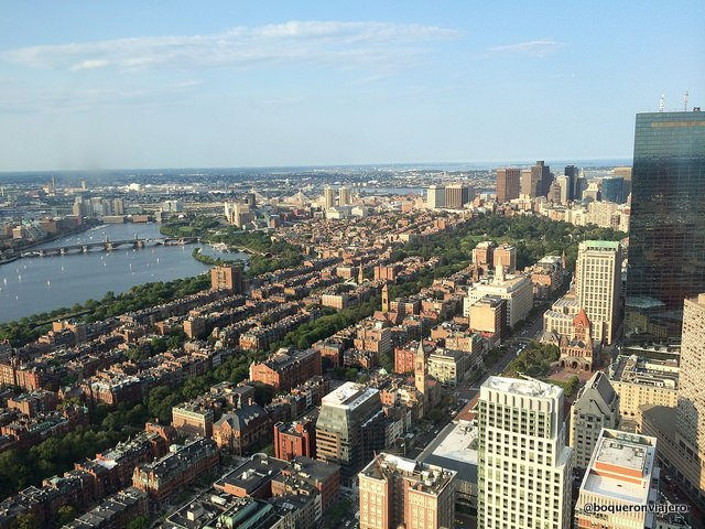 Views from the Prudential Tower, Boston