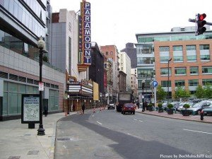 Washington Street in the Theatre District