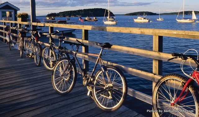 Bicycles in Bar Harbor, Maine