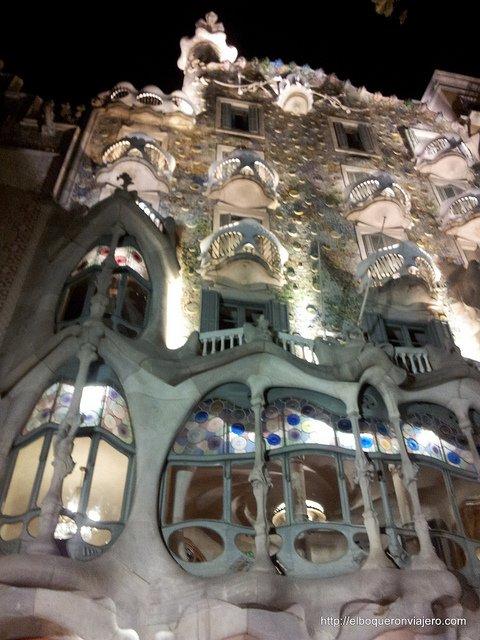 Facade of Casa Batllo in Barcelona