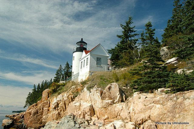 Light House in Bass Harbor, Maine