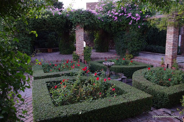 Gardens in The Alcazaba of Malaga