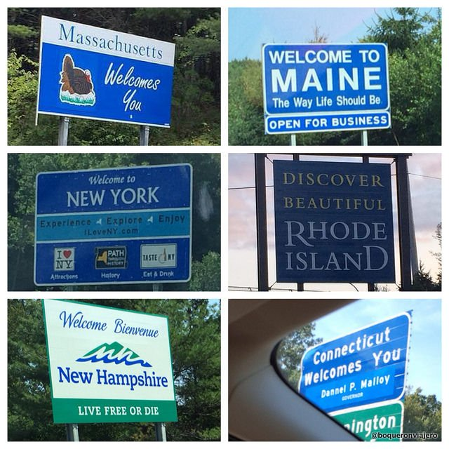 The states we visited on our trip through New England