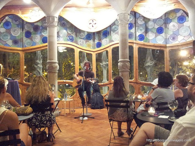 Live music at Casa Batllo in Barcelona