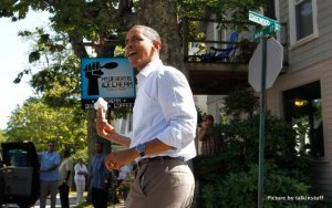 Barack Obama en Mount Desert Island Ice Cream, Bar Harbor