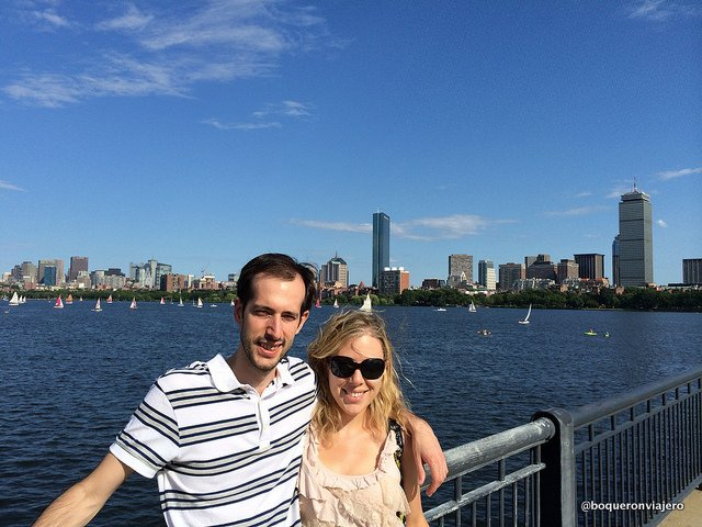 Pedro y Abby en Boston