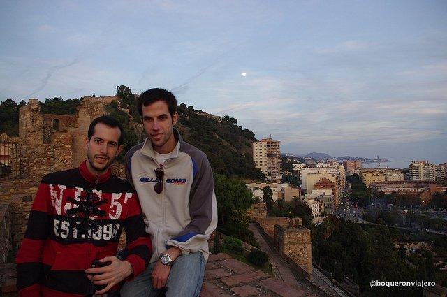 Pedro y Javi en La Alcazaba de Málaga