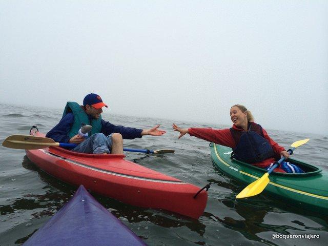 Practicando Kayak en Bar Harbor, Maine