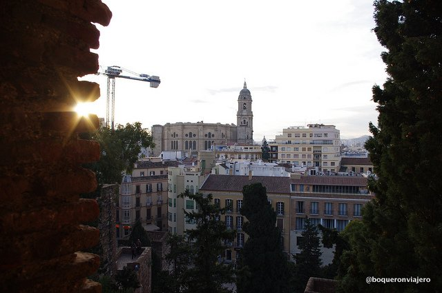 Views of the Cathedral from The Alcazaba of Malaga