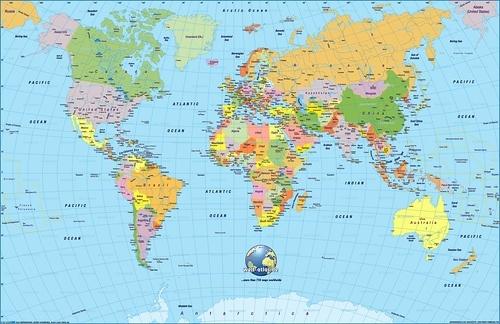 Mapa de destino con todos los viajes