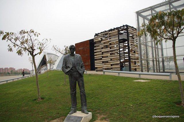 Escultura en la Expo de Zaragoza