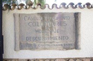 Placa homenaje en el Castillo de Colomares, Benalmádena, Málaga