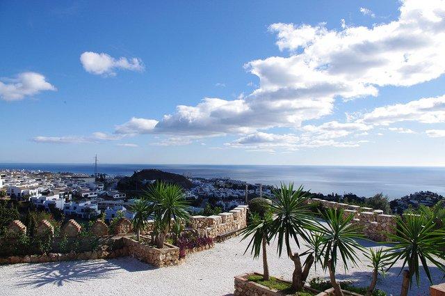 Vistas desde el Castillo de Colomares, Benalmádena, Málaga