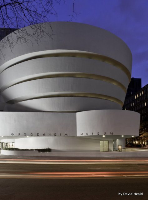 Building of The Guggenheim Museum in New York