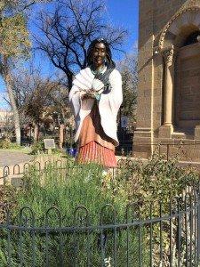Native American Virgin statue in Santa Fe, NM
