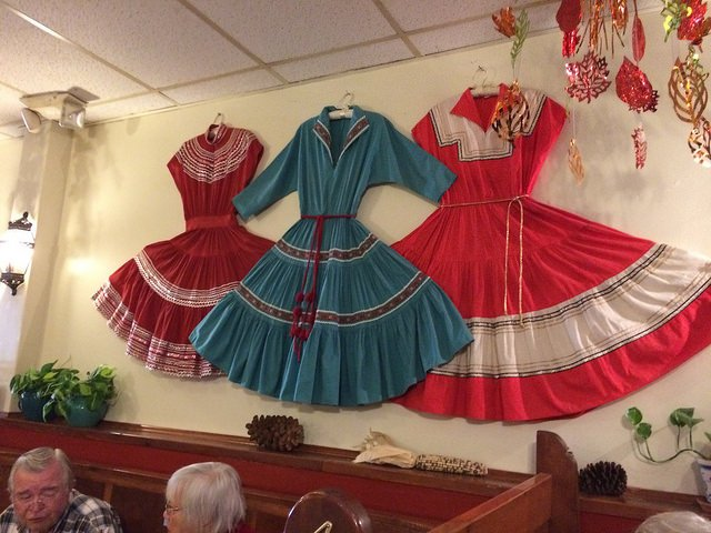 Regional dresses at The Shed, Santa Fe, NM