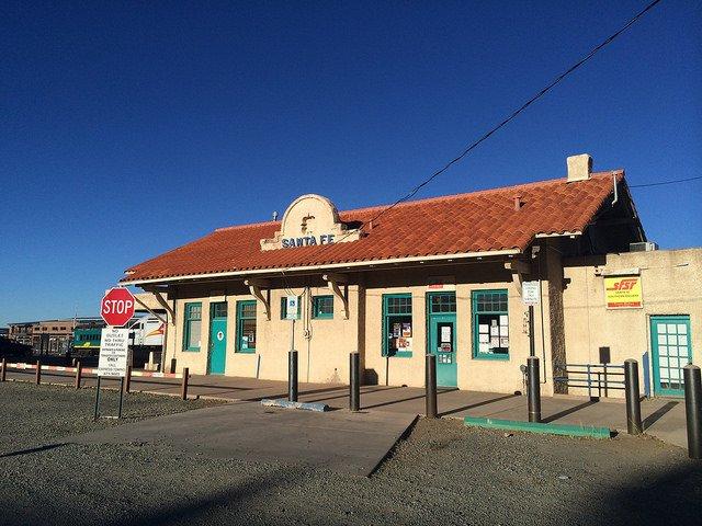 Antigua estación de tren de Santa Fe, NM