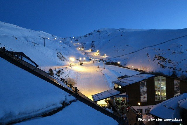 Esquí nocturno Sierra Nevada, Granada
