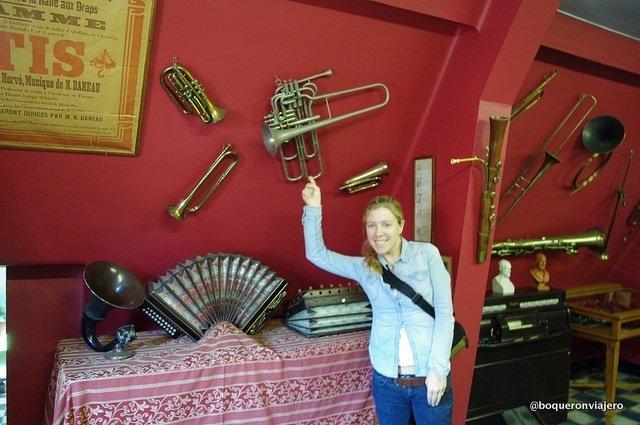 Instrumentos en el Museo del Folclore Tournai