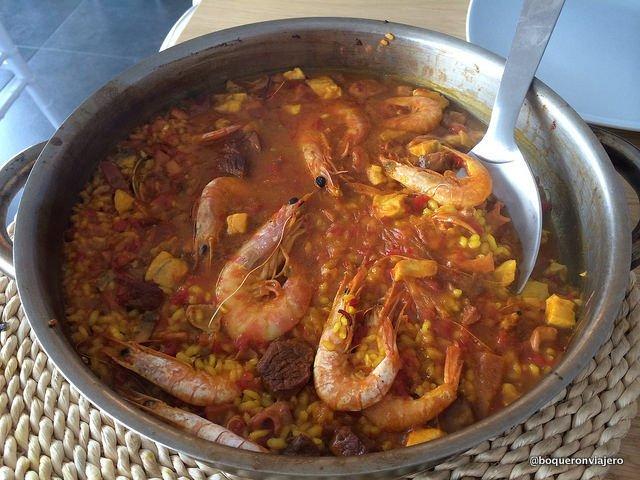 Paella en el Restaurante Terramar en Vejer