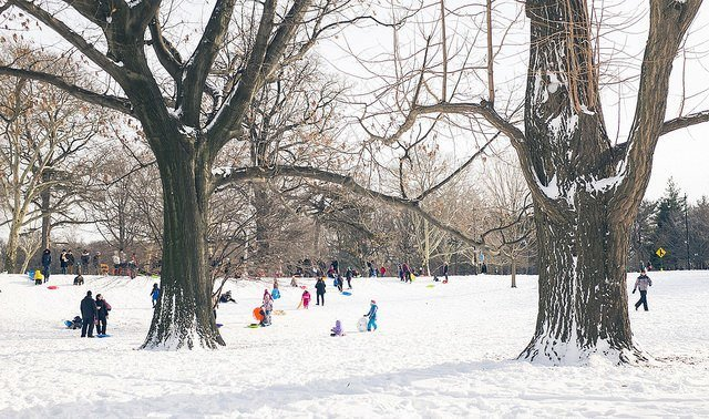 Snow day in NYC 2015