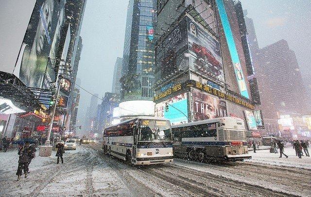 Times Square Blizzard 2015