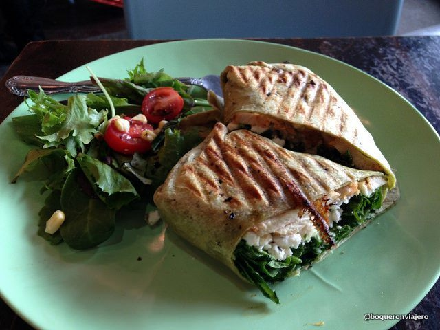 Feta and spinach wrap from Espresso 77