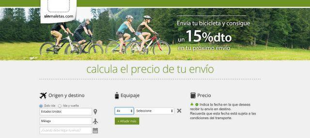 SinMaletas website