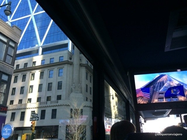 On Location Tours bus screen