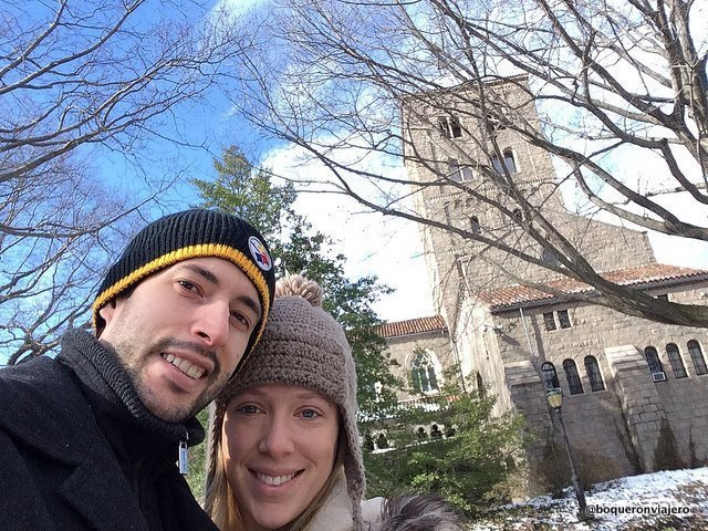 Pedro and Abby at The Cloisters