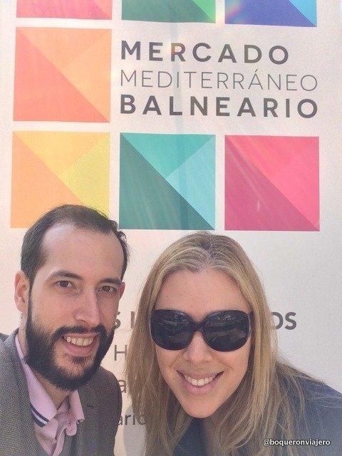 Pedro y Abby en el Mercado Mediterráneo