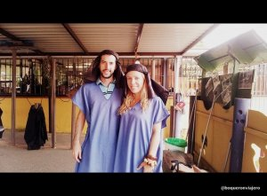 Abby y Pedro en Camello Center